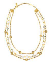 Jose & Maria Barrera - Metallic Triple-strand Necklace - Lyst