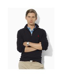Ralph Lauren - Black Merino Wool Full-zip Sweater for Men - Lyst