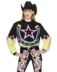 Maria Escoté - Multicolor Horseshoe Printed Cotton Sweatshirt - Lyst