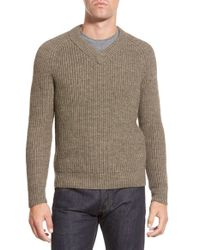 Bonobos | Natural Chunky Rib V-neck Sweater for Men | Lyst