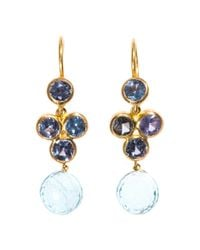 Marie-hélène De Taillac - Blue Sapphire, Aquamarine & Gold Earrings - Lyst