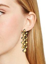 Diane von Furstenberg | Metallic Drop Earrings | Lyst