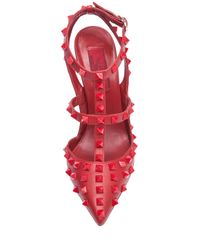 Valentino | Red Rockstud Studded Leather Pumps | Lyst