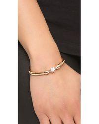 Vita Fede | Pink Mini Titan Cube Crystal Bracelet - Rose Gold/Clear | Lyst