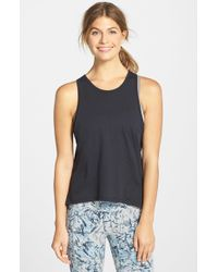 Alternative Apparel - Black Back Cutout Tank - Lyst