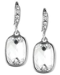 Givenchy | Metallic Silver-tone Crystal Drop Earrings | Lyst