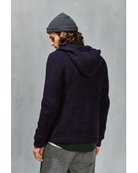 Native Youth - Blue Zip-up Hooded Sweater for Men - Lyst