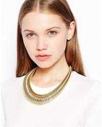 Kenneth Jay Lane - Metallic Gold Hoop Collar Necklace - Lyst