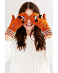Urban Outfitters | Orange Kitsch Animal Convertible Glove | Lyst