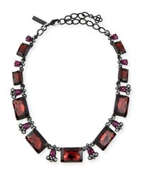 Oscar de la Renta | Black Large Octagon Stone Necklace | Lyst