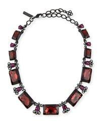 Oscar de la Renta | Metallic Large Octagon Stone Necklace | Lyst