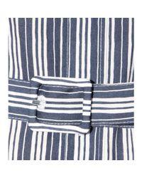 A.P.C. - Blue Striped Cotton Shirt Dress - Lyst