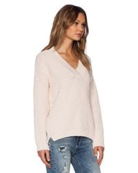 M.i.h Jeans - Pink The Hero Vee Sweater - Lyst