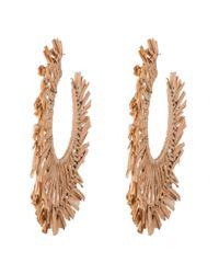 Alexis Bittar | Metallic Liquid Gold Raffia Hoop Earring | Lyst
