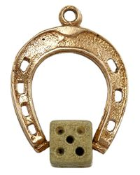 Annina Vogel - Metallic Vintage Gold Horseshoe Dice Charm - Lyst
