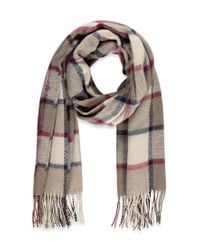 Forever 21 | Natural Fringed Plaid Scarf | Lyst