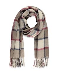 Forever 21 | Gray Fringed Plaid Scarf | Lyst