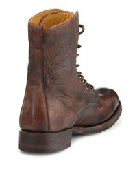 Frye | Brown Rand Stonewash Lace-Up Boot for Men | Lyst