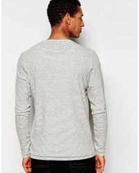 SELECTED | White Fine Stripe Long Sleeve Top for Men | Lyst