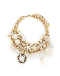 Erickson Beamon - Metallic 'lady And The Tramp' Faux Pearl Velvet Chain Necklace - Lyst