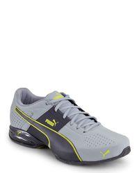PUMA - Gray Grey & Lightning Cell Surin 2 Running Sneakers for Men - Lyst