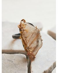 Free People | Multicolor Variance Objects Womens Rutilated Quartz Ring | Lyst