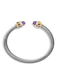 David Yurman | Purple Renaissance Bracelet With Amethyst, Pink Tourmaline, Rhodalite Garnet In 14k Gold | Lyst
