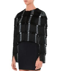 Marco De Vincenzo - Black Layered-Fringe Cropped Jacket - Lyst