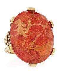 Stephen Dweck - Orange Coral Crystal Quartz Bronze Ring Size 7 - Lyst