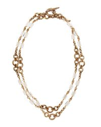 Stephen Dweck | Metallic Natural Quartz Carved Bronze Long Necklace | Lyst