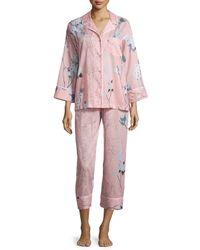 Natori - Red Sakura Printed Two-piece Pajama Set - Lyst