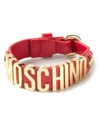 Moschino | Red Logo Letters Bracelet | Lyst