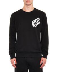 McQ - Black Logo-Print Cotton Sweatshirt for Men - Lyst