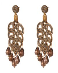Anna E Alex - Metallic Silver Fume Quartz Passementerie Drop Earrings - Lyst