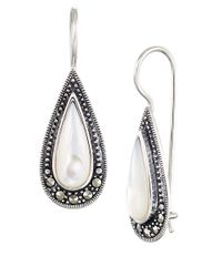 Lord & Taylor | White Sterling Silver And Mother Of Pearl Teardrop Earrings | Lyst