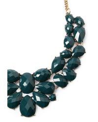 Forever 21 | Blue Faux Gemstone Statement Necklace | Lyst