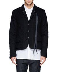 Ann Demeulemeester - Black Notch Lapel Padded Jacket for Men - Lyst