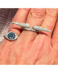 Anne Sisteron - Metallic 14kt White Gold Diamond Rowdy Ring - Lyst