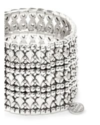 Philippe Audibert - Metallic 'neva' Flower Bead Cuff Bracelet - Lyst