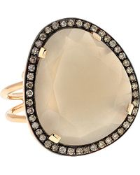 Christina Debs - Hard Candy 18ct Pink-gold And Diamond Ring - Lyst