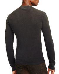 Polo Ralph Lauren | Black Textured Cotton Henley for Men | Lyst