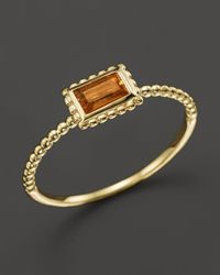 Lagos | Metallic 18k Gold Citrine Baguette Stack Ring | Lyst