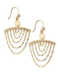 Lana Jewelry | Metallic Small Gold Chain Cascade Earrings | Lyst