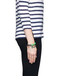 Joomi Lim - Green Crystal Bead Double Strand Bracelet - Lyst