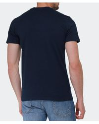 La Martina | Blue Logo T-shirt for Men | Lyst
