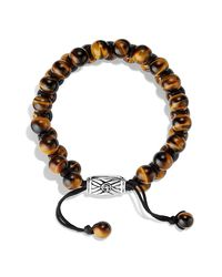 David Yurman - Brown Spiritual Beads Two-row Bracelet With Tiger's Eye for Men - Lyst