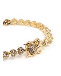 Eddie Borgo | Metallic Crystal Pavé Mini Cone Bracelet | Lyst