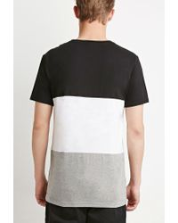 Forever 21 - Black Colorblocked Pocket Tee for Men - Lyst