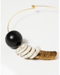 Maslo Jewelry | Metallic Baseline Necklace | Lyst