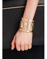 MFP MariaFrancescaPepe | Metallic Paris 23Kt Gold Plated And Perspex Cuff | Lyst